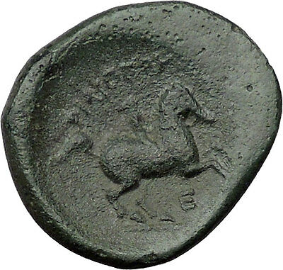 Philip II Alexander the Great Dad OLYMPIC GAMES Ancient Greek Coin Horse i31504