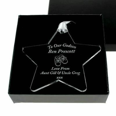 Personalised Godson, God Daughter Acrylic Star Keepsake Engraved gift