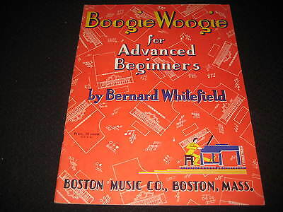 Boogie Woogie for Advanced Beginners 1944 Bernard Whitefield #B135