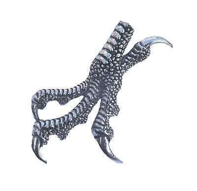 TALONS BIRDS CLAW BIRD Hand Made in UK Pewter Lapel Pin Badge