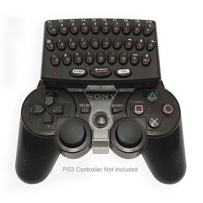 Wireless Clip On  Keypad/Keyboard for PS3 Controller for Play Station 3