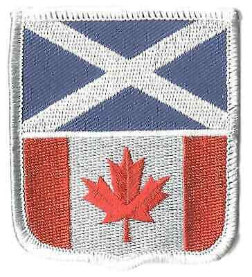 Scotland & Canada Friendship Flags Crest Flag World Embroidered Patch Badge