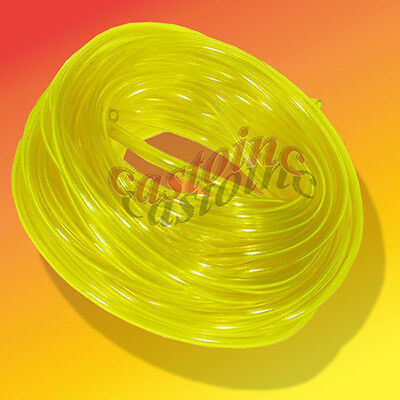 Premium Clear Yellow Fuel Line, 25 or 50 Ft, Vinyl Fuel Tubing, Resists Swelling