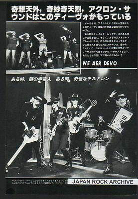 1978 Devo JAPAN mag photo pinup picture / clippings cuttings