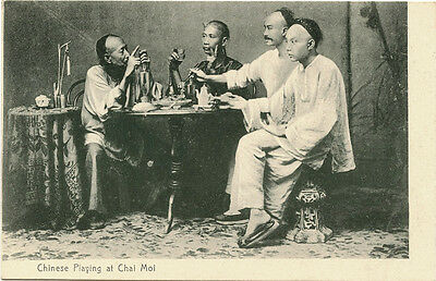 Chinese Playing At Chai Moi - Vintage Postcard Published M. Sternberg, Hong Kong