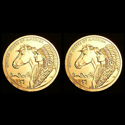 2012 P+D Native American Sacagawea Set ~ PD BU from US Mint Roll