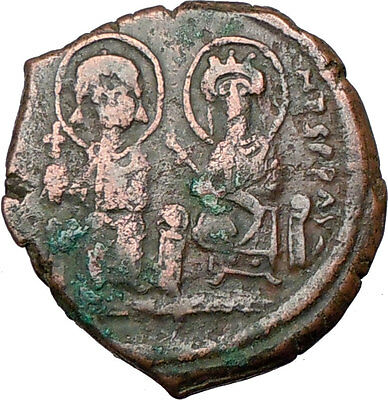 JUSTIN II & Queen Sophia 565AD  Ancient Byzantine Coin Large M  i20064