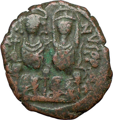 JUSTIN II & Queen Sophia 565AD  Genuine Ancient Byzantine Coin  i20069