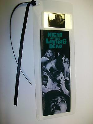 NIGHT OF THE LIVING DEAD Movie Film Cell Bookmark - Memorabilia poster dvd