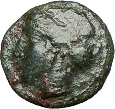 HIMERA Sicily 420BC Ancient Genuine Greek Coin Nymph & LAUREL WREATH  i25228