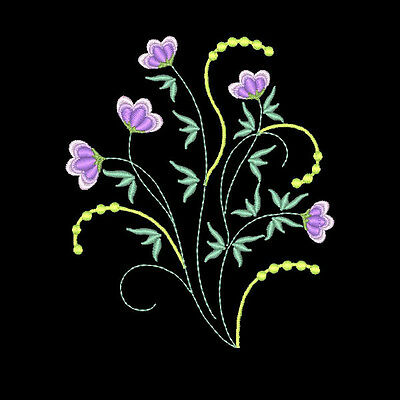 Simply Lovely Flowers - 20 Machine Embroidery Designs (Azeb)