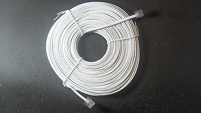 RJ11 Telephone Phone Cord Cable Plug 2M 5M 10M 15M 20M 25M for ADSL Filter Fax