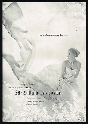 1946 McCallum Propper Women's Hosiery Nylons Vintage Photo Print Ad
