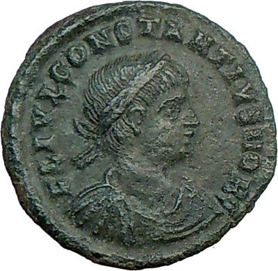 CONSTANTIUS II Constantine the Great son Ancient Roman Coin LEGIONS i21377