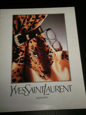 1989 - Yves Saint Laurent - Clothing Ropa - Ad Publicite Anuncio - French - 2718