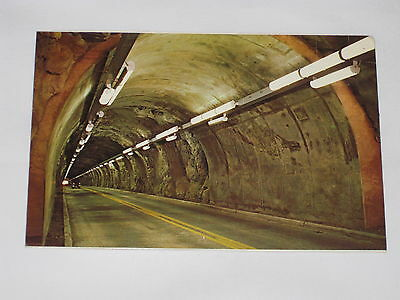 VINTAGE Tunnel Highway 14 Postcard Between Cody and Buffalo Bill Dam Yellowstone