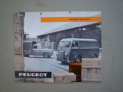 PEUGEOT   Commercial vehicles  brochure/Prospekt  1963.