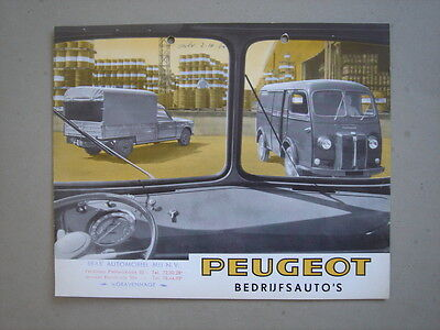 PEUGEOT   Commercial vehicles  brochure/Prospekt  1965.