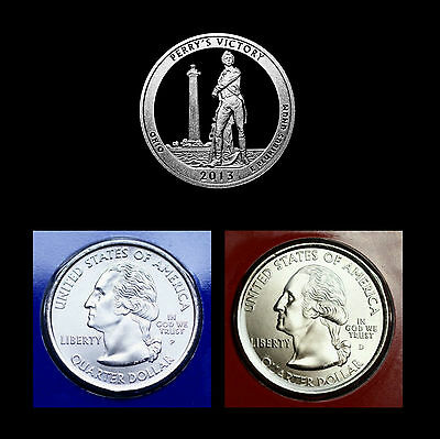 2013 P+D+S Perry's Victory Ohio Quarter Dollar Mint Proof Set ~ National Parks