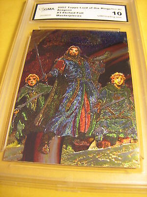 Aragorn 2007 Topps Lord Of The Rings Masterpieces  Etched Foil Art # 3 Graded 10