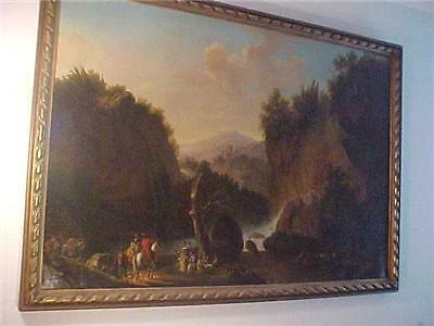 Huge 18Thc Scene French  Antique Oil Painting