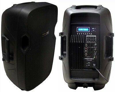 "New 12"" 700W Professional PA,DJ Powered Speaker USB/SD,Mic.RCA Input LCD Screen"