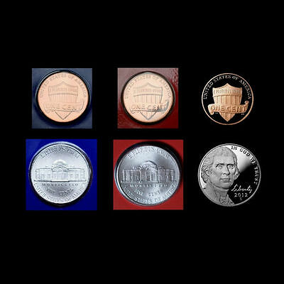 2013 P+D+S Lincoln Shield Penny and Jefferson Nickel  Mint Proof Set