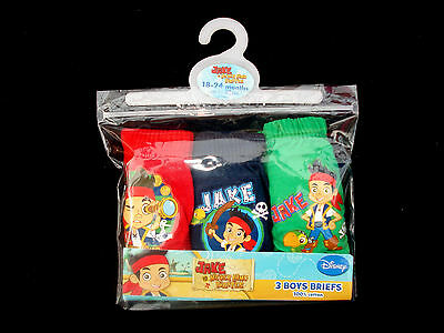 BNWT-JAKE AND THE NEVERLAND PIRATES BRIEFS / PANTS 18/24 mths, 2/3, 3/4, 4/5 yrs
