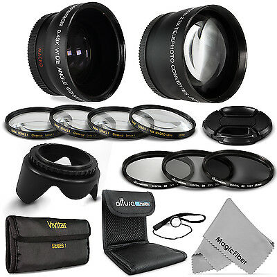 58MM Wide Angle Telephoto Macro Lens Set + UV CPL ND4 for Canon Rebel DSLR