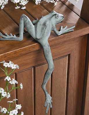 Mr Froggy Long Leg Frog Whimsical Shelf Sitter Garden Decor Longlegs Sculpture