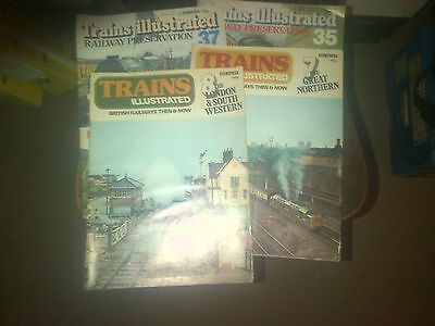 4 issues of TRAINS ILLLUSTRATED BRITISH RAILWAYS THEN & NOW Nos 7, 8, 35 & 37