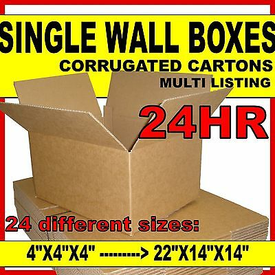 SINGLE WALL Cardboard Postal Mailing Corrugated Boxes Cartons *ALL SIZES & QTYS*