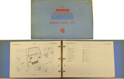 Austin A99 Westminster Original illustrated Service Parts List 1960 No. AKD1149