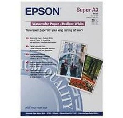 Epson Watercolor Paper Radiant White A3+ 190 gsm 20 Sheets Standard Generic