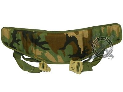New US Military MOLLE II Woodland Molded Waist Belt USMC USGI Rucksack Camo Belt