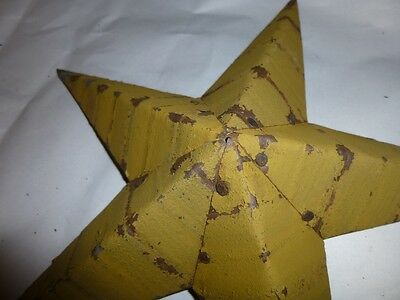 Rustic Genuine Amish Quality Primitive 29 INCH Barn Star USA Made MUSTARD