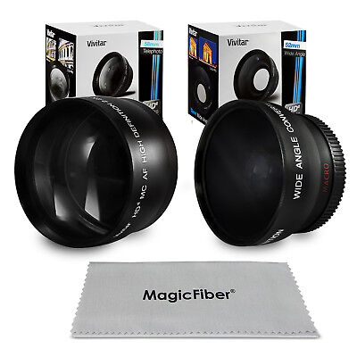52MM 0.43X Wide Angle & 2.2X Telephoto Lens for Nikon D5100 D5000 D3200 D3100