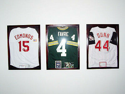 JERSEY DISPLAY CASE Frame JERSEY Display Case Frame Shadow Box Dark ...