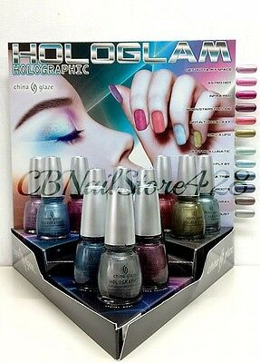 China Glaze Nail Lacquer- HOLOGLAM HOLOGRAPHIC Collection - Choose Any Color