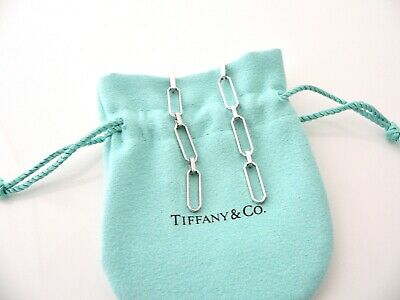 4be38e9a2 Tiffany & Co 18K Gold Paper Clip Dangling Dangle Earrings Excellent Rare  Vintage