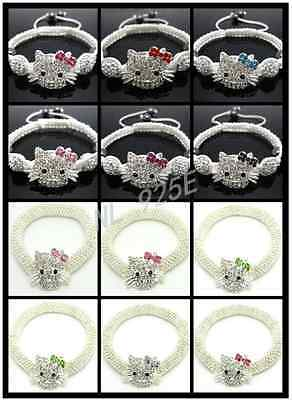 Top Quality Shamballa Hello Kitty Style Bracelets - Adult Size Design- Uk Seller