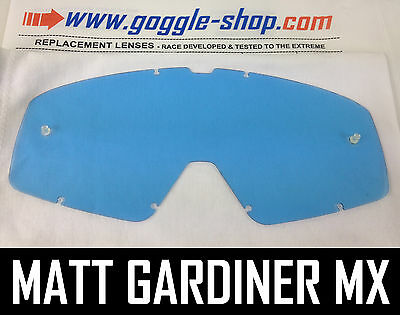 GOGGLE-SHOP REPLACEMENT LENS for FOX MAIN MOTOCROSS MX GOGGLES BLUE TINT pro