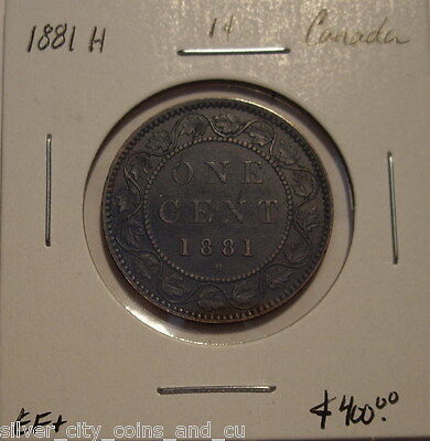 "Canada Victoria 1881H ""Doubled Obv Legend"" Large Cent - EF+"