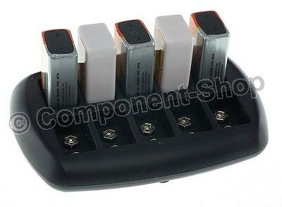 Intelligent Battery Charger for 10x PP3 8.4V (9V) NiCd NiMH batteries. UK Plug