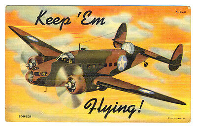 WWII US Army Air Force BOMBER Postcard 1945