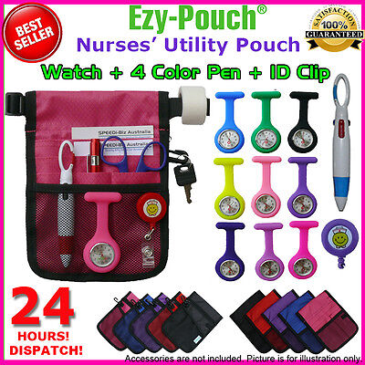 High Quality Nurse Vet Pouch Pocket Bag Silicon Fob Watch Pick Bonus Pack