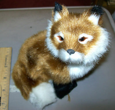 Large 7 inch tall Furry Fox, super cute! We combine items and ship worldwide
