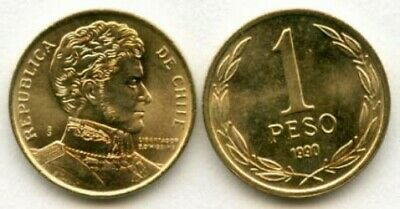 Chile: 3 Piece Uncirculated Coin Set, 1 To 10 Pesos
