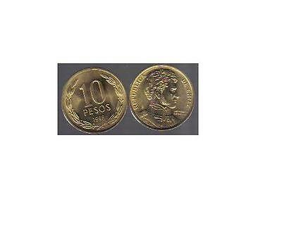 Chile: 100 Uncirculated 10 Pesos Coins, Km #228