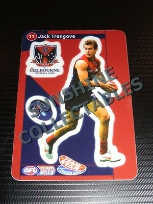 2013 Teamcoach Team Star Sticker Card 11 Jack Trengove Melbourne